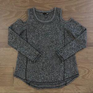 NWOT Aqua Cashmere Cold Shoulder Sweater Size XS
